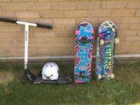 Skateboard (2) and Scooter set - £150 O.N.O