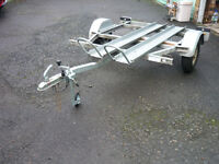 Motorbike Trailer with tipping bed.