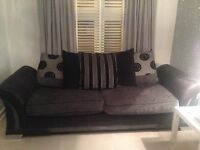 4 seater charcoal grey sofa