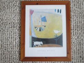 Boat on a Yellow Sea Print