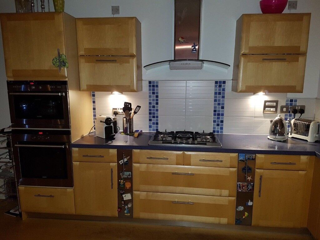Kitchen units,Bosh American fridge freezer and Siemens dishwasher for sale