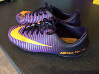 Nike Mercurial Astro football boots purple orange size 5 38