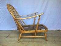 Ercol 203 vintage easy lounge armchair frame 1960s 1970s