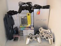 Console Sony PlayStation 2 Fat PS2 PAL Silver Version Bundle