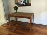 John Lewis dark wood rectangular dining table, six-seater, good condition couple of faint ring marks