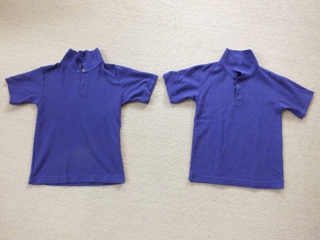 School Uniform 2 Purple Polo Shirts Zeco 4 5 Years Never Worn In
