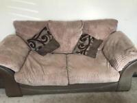 DFS 3 seater sofa bed , matching chair and foot stool