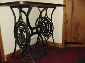 Singer Sewing Machine Treadle Antique Table