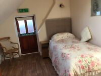 lovely single room in B&B Felixstowe for person working away from home.