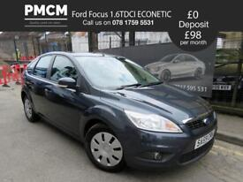 FORD FOCUS 2009 1.6 TDCI ECONETIC - ONLY 42,285 MILES - F.S.H - £30 TAX astra golf (grey) 2009