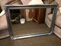 HUGE HEAVY ORNATE BEVELLED MIRROR FOR UPCYCLING