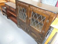 Vintage Priory Type Display Cabinet…with cupboard...30700B
