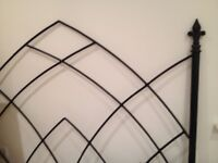 Black Wrought Iron Gothic Style Headboard