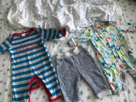 C x2 Moses basket sheets, clothes bundle with Ted Baker pjs