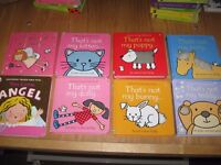 SELECTION OF TOUCHY-FEELY BOOKS ( 8 ) All In Good Condition