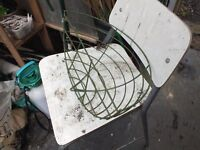 Green Plastic Wire Covered Wall Basket