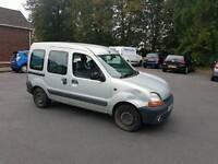 Diesel renault kangoo long mot can be uesd as van or people carrier