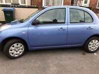 NISSAN MICRA 5 DOOR BLUE 2003 ONE LADY OWNER