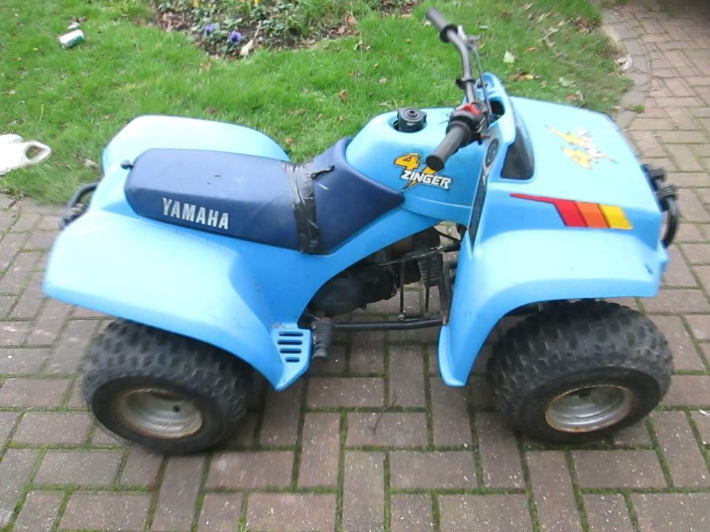 yamaha zinger 60cc quad bike getting rare like lt80 lt50
