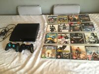 PlayStation3 2 pads 16 games all leads