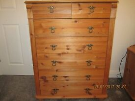 Matching pine furniture in excellent condition