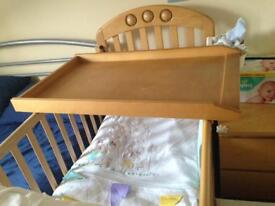 Changing top for the cot