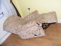 CAN DELIVER - DUAL MOTOR MOBILITY RISE RECLINER CHAIR IN VERY GOOD CONDITION