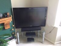 """Perfect condition 47"""" Philips 1080p full HD LCD, Panasonic Sound Bar and TV Stand"""