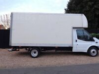 Man & larg van House moving services Deliveries & collection van hire reliable person.run for dump