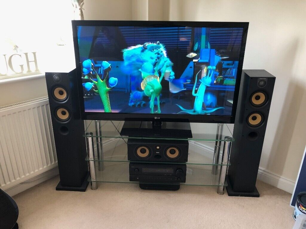 Complete Home Cinema System inc Stand, Bowers & Wilkins Speakers, Denon  Amp, LG 51