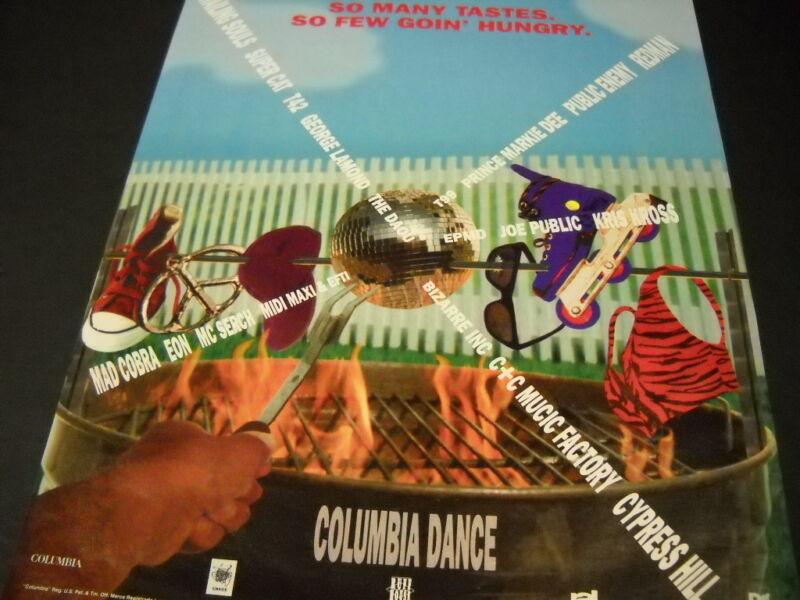 CYPRESS HILL George Lamond PUBLIC ENEMY Eon MC SERCH more 1992 Promo Poster Ad