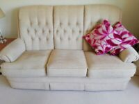 Parker Knoll Three Seater Sofa, Wing Chair and Easy chair