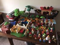 Huge playmobil job lot, zoo animals, Noah's ark, school, fire engine figures