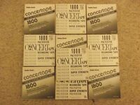 """10 Realistic 1/4"""" Concertape 1800ft tapes on 7"""" plastic spools"""