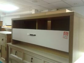 OAK AND WHITE TV UNIT FOR HOME