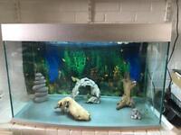 Fish Tank. FRF-900 silver tank. 178L Bowfront Aquarium, no cabinet.