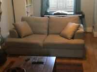 Next Sofa in sky blue. Must go today, Sunday or Monday. Can deliver within 5 miles.