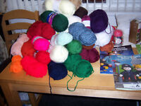 knitting and other materials