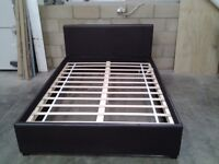 Unused faux double bed frame. Bargain, can deliver.