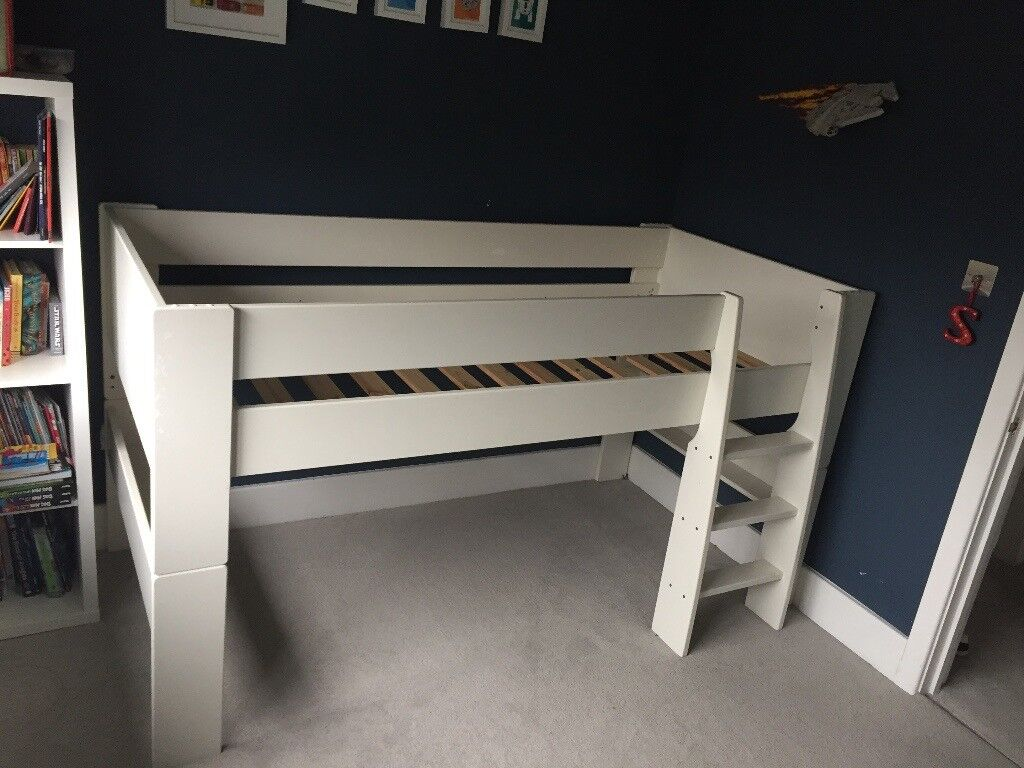 Superb Steens Mid Sleeper Childrens Kids Bunk Bed In White In