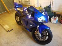 2004 cbr600rr in blue