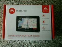 "Motorola sat nav 5"" brand new"