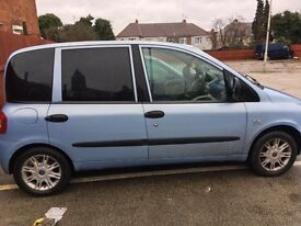 05 2005 FIAT MULTIPLA JTD DYNAMIC MPV 1900cc DIESEL 6 SEATS TOW BAR LONG MOT 12/11/17 WOW PX-SWAPS
