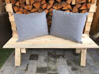 Lovely solid wooden bench