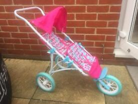 Children's push along double buggy