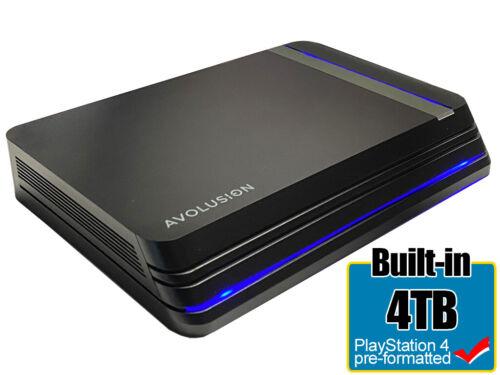 Avolusion Pro X 4TB USB 3.0 External Gaming Hard Drive (PS4 Pro, Slim, 1st Gen)