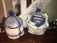 New baby nappy cakes and hampers staring from £6