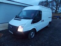 FORD TRANSIT 2.2TDCi 280S MWB/MED ROOF 125PS, 2012, ONLY 34000MILES,MOT,FSH,VGC,1 owner, warranty