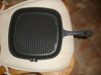 Cast Iron skillet for sale. As new. Grey.