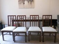 Dining Table and Four Chairs, Arighi Bianchi